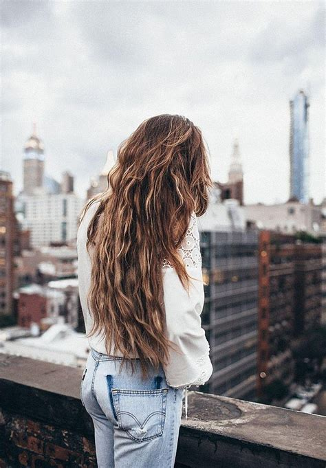 ideas  long hairstyles  jeans