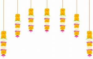 India Decoration with Flowers Transparent Clip Art Image ...