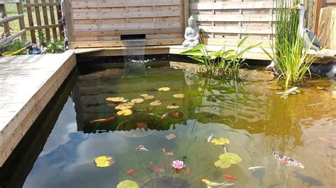Bassin lame d'eau : filtration 2 cuves 300 L - YouTube