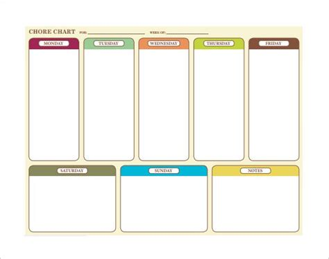 weekly chore chart how to make schedule using 5 chore list template types