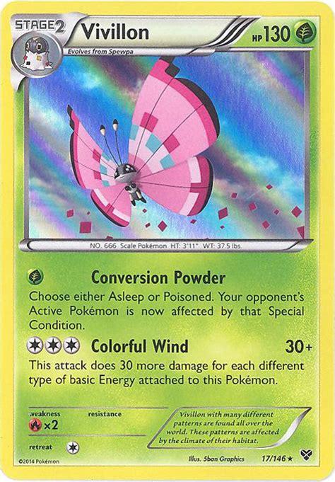 pokemon card xy  vivillon holo foil pink