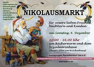 Sozialprojekt Reinickendorf Ost E V Berlin : einladung zum nikolausmarkt sozialprojekt reinickendorf ost e v ~ Bigdaddyawards.com Haus und Dekorationen
