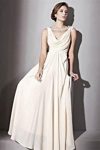 jeweled cowl neck wedding dress by elliot claire london With cowl neck wedding dress