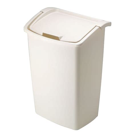 rubbermaid  gal bisque dual action trash  bisqu  home depot