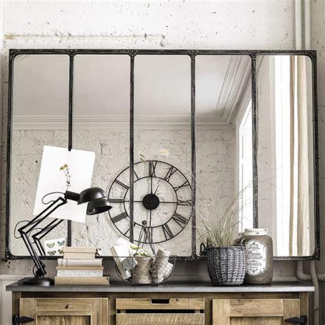 canapé et noir miroir indus en métal l 180 cm cargo verrière maisons du