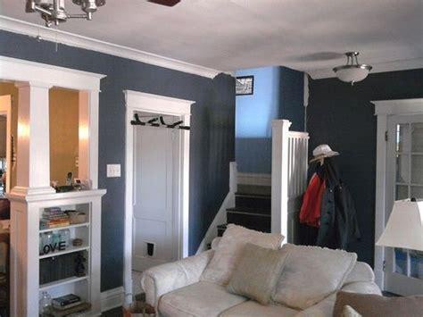 accent wall color  slate blue glidden blue grey slate