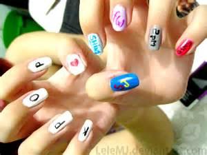 Nail art kpop by lelemj on deviantart