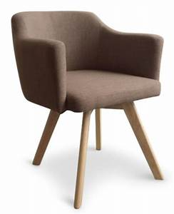 Chaise Scandinave Accoudoir : fauteuil scandinave tissu taupe kanty ~ Teatrodelosmanantiales.com Idées de Décoration