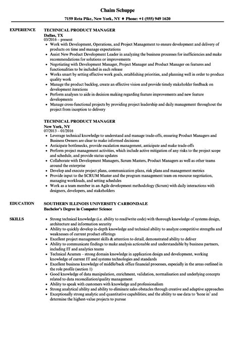 Technical Product Manager Resume by 100 86 Php Developer Sle Resume