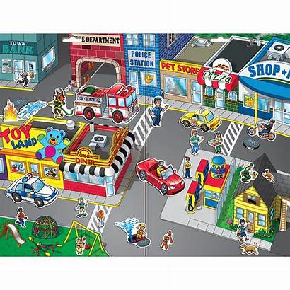 Scene Town Magnetic Create Scenes Play Playmonster