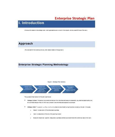 Strategic Planning Template 32 Great Strategic Plan Templates To Grow Your Business