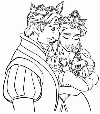 Coloring King Pages Princess Tangled Rapunzel Disney