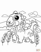 Coloring Pages Easy Dinosaur Printable Sheets Print Getcolorings Cartoon Ea sketch template