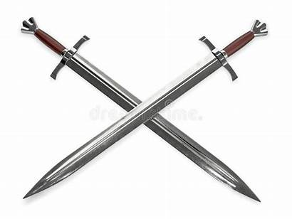 Medieval Swords Handles Wooden Dual