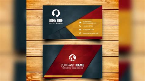 business card design  photoshop template youtube