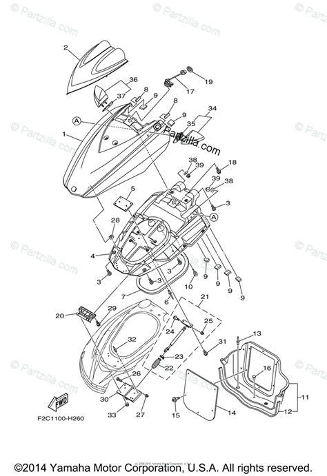 Waverunner Engine Diagram by Yamaha Waverunner 2015 Oem Parts Diagram For Engine Hatch