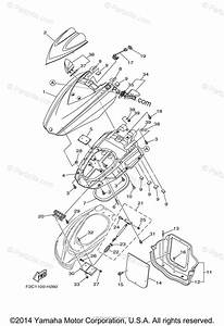 Yamaha Waverunner 2015 Oem Parts Diagram For Engine Hatch 2