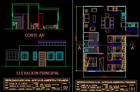 social house dwg section  autocad designs cad