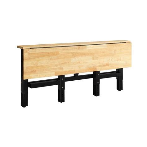 husky garage workbench folding adjustable height wood
