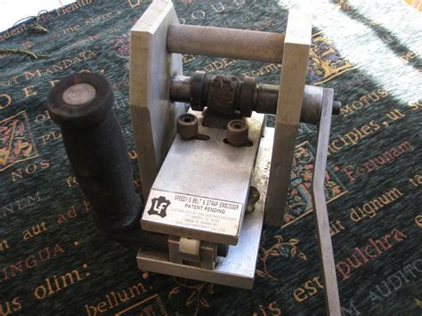 tandy leather speedys belt strap embossing machine