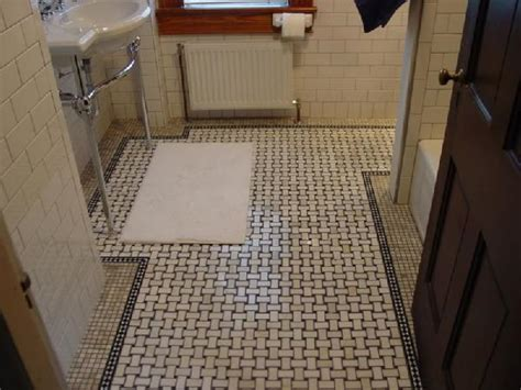 basket weave tile floor restorations