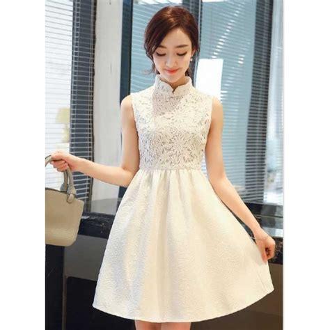 dress pesta putih remaja