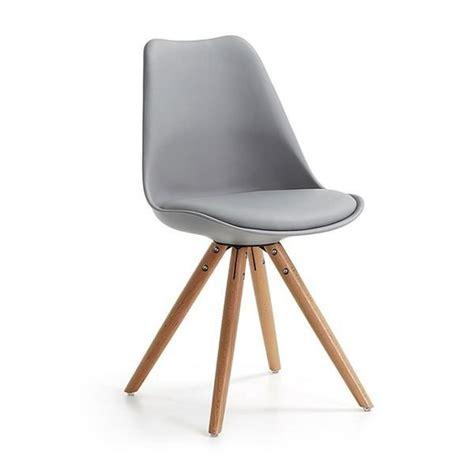 chaise tulipe pas cher table tulipe 90 cm et 4 chaises clubber grises achat