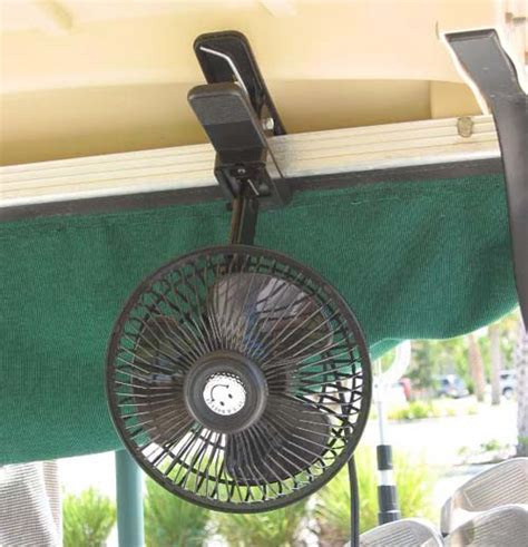 Golf cart fan   portable plastic clip on   Climste Caddy