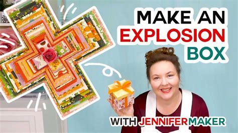 easy explosion box card tutorial   cricut