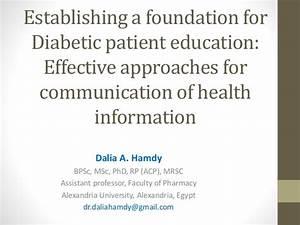 Education and Management of Diabetics: A patient outcome ...