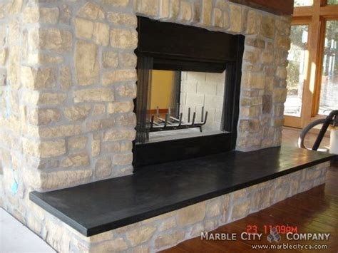 Soapstone Hearth Slab by Fireplace Surround Installation Details Granite