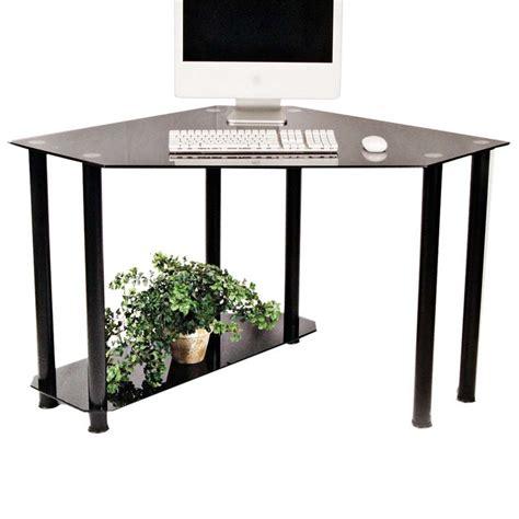 glass corner computer desk rta glass corner computer desk black glass ct 013b