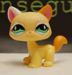 lps ebay cats littlest pet shop cat kitten yellow green sparkling