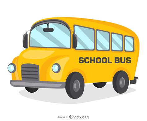 school bus cartoon design vector