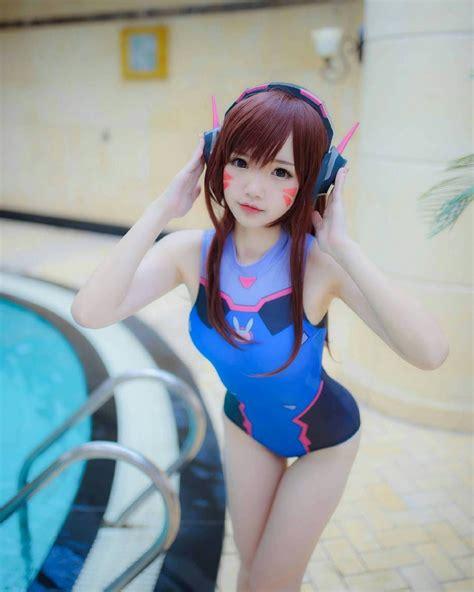 swimsuit dva cosplayer follow atraraguy
