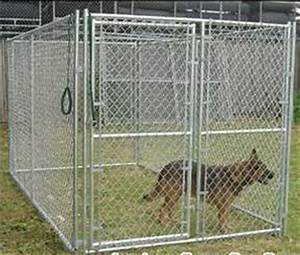 Welded wire fence for dog kennels fences chain link for Dog run fence home depot