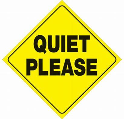 Please Quiet Silence Signs Clipart Reflective Plastic