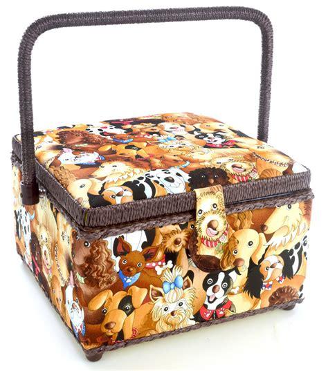 dritz sewing basket medium square dog joann jo ann
