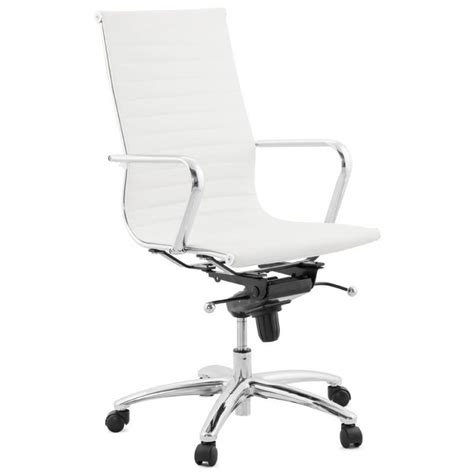 fauteuil bureau blanc fauteuil de bureau amen en simili cuir blanc