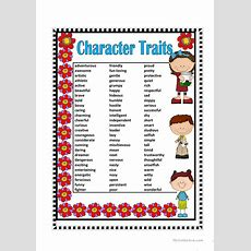 Character Traits Worksheet  Free Esl Printable Worksheets Made By Teachers