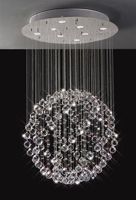 Sparkling Floating Crystal Ball Pendant Chandelier   3 Sizes