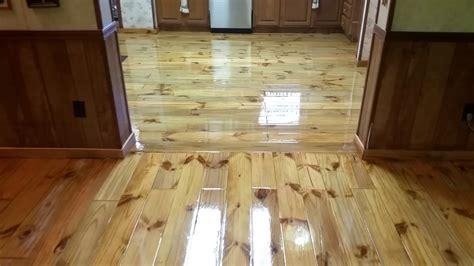 epoxy flooring wood epoxy floor over pine flooring youtube