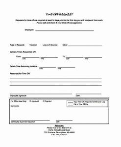 24 Time f Request Forms in PDF