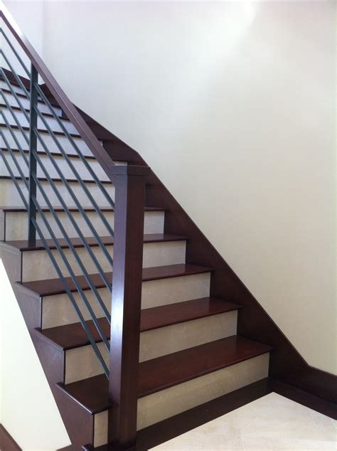 wood stairs baseboards