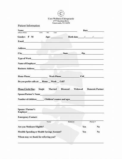 Forms Wellness Core Chiropractic Form Patient