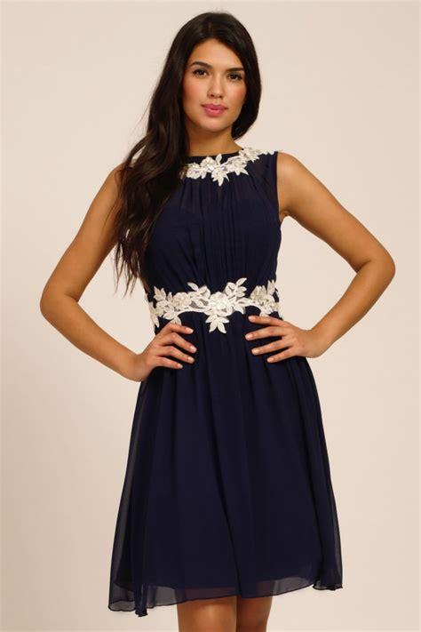 lace applique navy floral lace applique chiffon dress