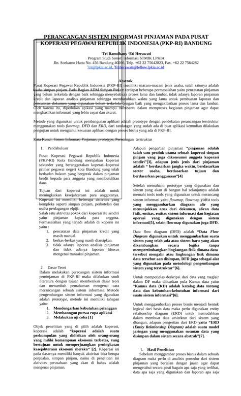 (PDF) jurnal tri ramdhany-PERANCANGAN SISTEM INFORMASI