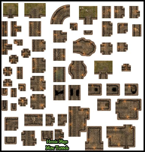 Making 3d Dungeon Tiles by Heroic Maps Modular Kit Mine Tunnels Heroic Maps