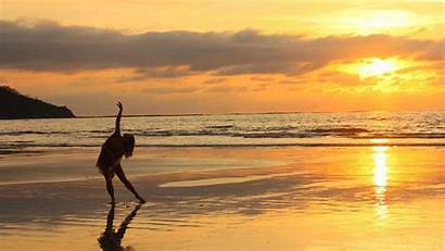 Yoga Sunset Background Beach Backgrounds Wallpapers Cool