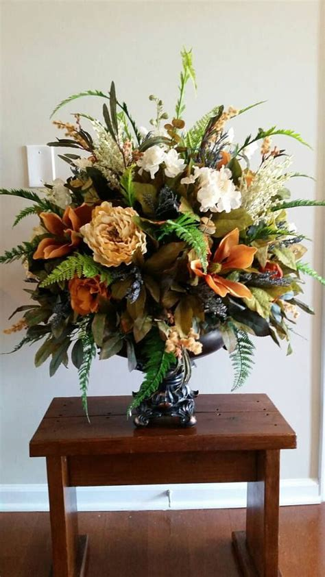 extra large silk floral arrangement italian tuscan